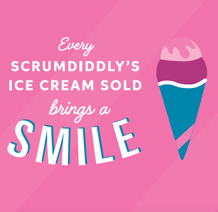 Every ice cream brings a smile